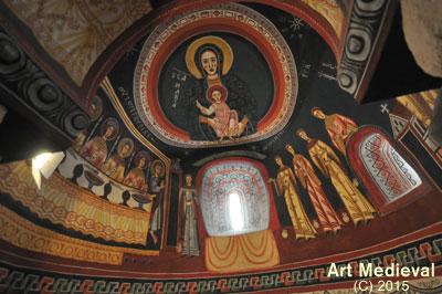 Reproducció de les pintures de l'absis sud