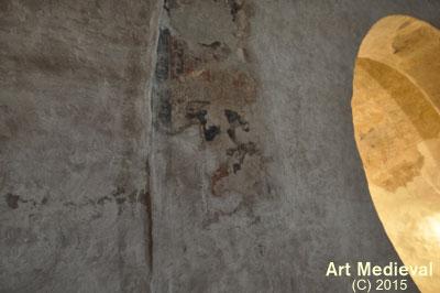 Restes de pintures conservades in situ