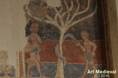 Escena d'Adam i Eva conservada al Museu de Solsona